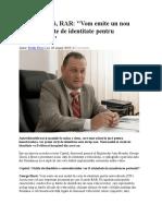George Dincă RAR Interviu