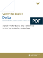 181161 Delta Handbook for Tutors and Candidates Document