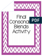 Final Consonant Blends Activity