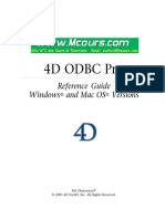4D ODBC Pro Reference Guide Windows and Mac OS Versions