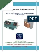 DC Machines Laborotary Manual 2016