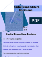 Capital Expenditure Decisions