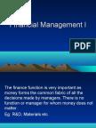 Financial Management I