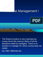 Financial Management I