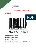 Proiect Educationaltraficul de Fiinte Umane
