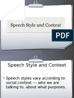 Types of Speech Style