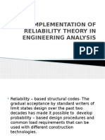 Implementation of Reliability Theory in Engineering Analysis Final