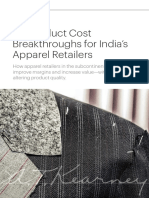 Six Product Cost Breakthroughs for Indias Apparel Retailers