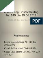 Legea insolvabilitatii