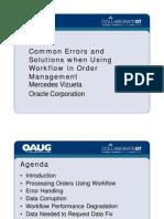 Workflow in Order Management