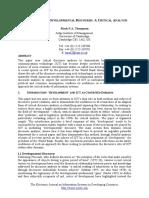 ICT, Power and Developmental Discourse- A Critical Analysis