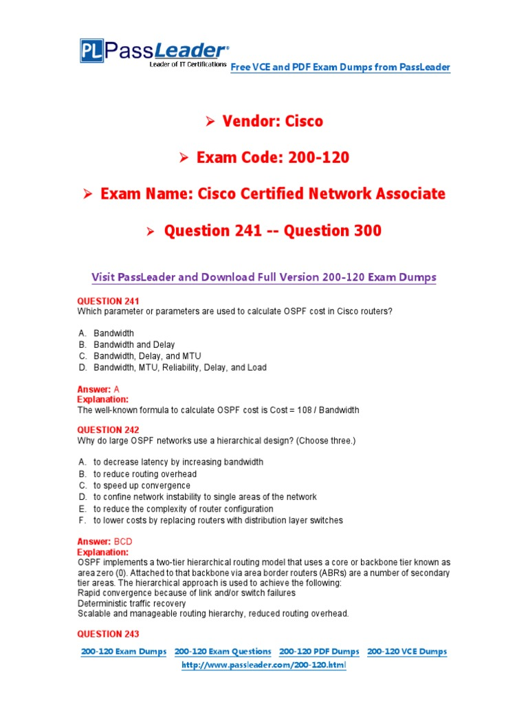200 120 exam dumps with pdf and vce download (241 300) world wide
