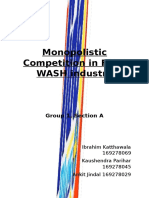 Monopolistic Competition in Face Wash