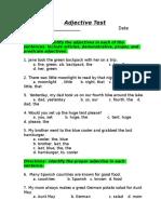 Adjectives Long Quiz