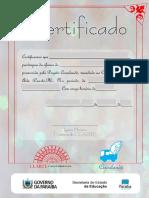 CIRCULANDÔ - Modelo de Certificado.