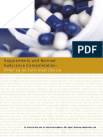 Supplements Banned Substance Contamination