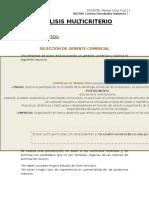 Análisis Multicriterio - Proyecto Analisis Decisiones