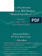 FY2011 Mayor Lantigua's Budget Presentation
