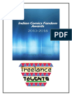 Indian Comics Fandom Awards 2013-2016 (Freelance Talents)
