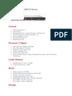 HP ProLiant DL360 G7 Server Datasheet