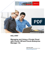 HOL6767 Managing and Using Private Cloud With Oracle VM and OEM 13c v2