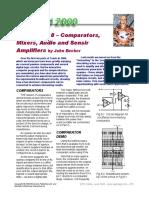 8. Comparadores, Mezcladores, Amplificadores de Audio