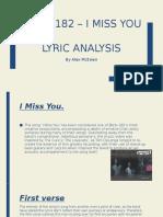 Blink 182 – i Miss You