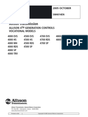 4K Service Manual 4th Gen SM4014EN 200510 | Transmission