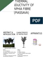 Thermal Conductivity of Raphia Fibre (Piassava)