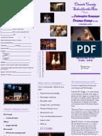 Summer Program Drama Camp Form