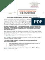 Lettre Information Bdio -Septembre 2016