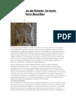 Las Dos Caras Del Estado - Pierre Bourdieu