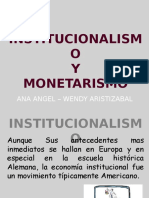 Institucionalismo y Monetarismo (1)