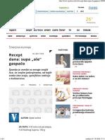 """Recept Dana_ Supa """"Ole"""" Gaspačo - Vijesti"""