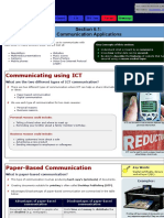 IGCSE ICT - Communication Applications
