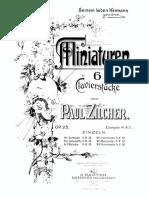 Paul Zilcher Miniaturen Op.25