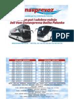 Dunav prevoz - redvoznje