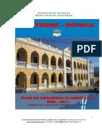 Plan de Desarrollo Guateque 08 - 11