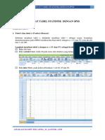 P14 Membuat Tabel Statistik Di IBM SPSS 21