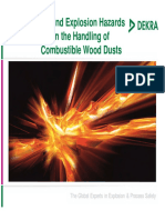 Fire and Explosion Hazards in the Handling of Combustible Wood Dusts