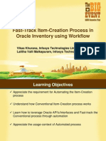 Fast Track Item Creation Process in Oracle Inevntory Using Workflow