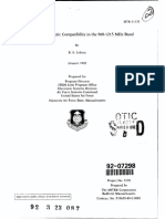 JTIDS Electromagnetic Compatibility in the 960-1215 MHz Band