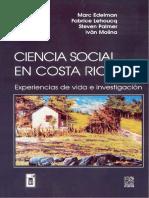 Ciencia Social en Costa Rica IvanMolina
