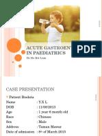 Acute Gastroenteritis in Paediatrics 1