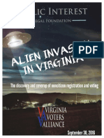 Report Alien Invasion in Virginia