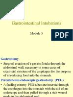 Gastrointestinal Intubations