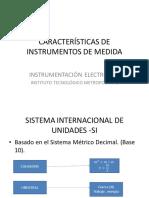 Características de Instrumentos de Medida