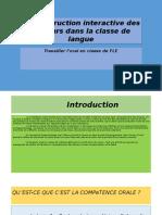 La Construction Interactive Des Discours Dans La Classe - Copy