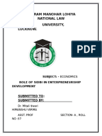 Role of SIDBI