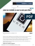 Rentabilidad de Uber Ejemplo